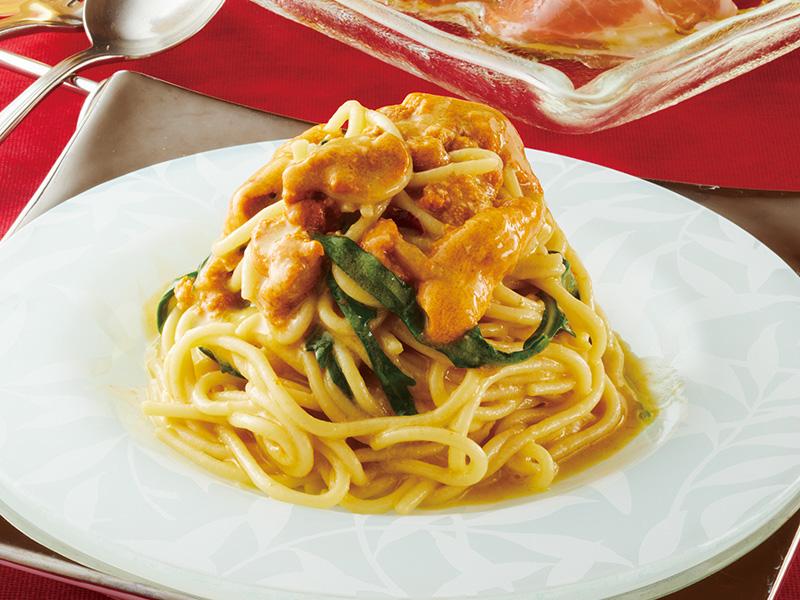 A.雲丹たっぷりのオイル仕立てのスパゲッティ